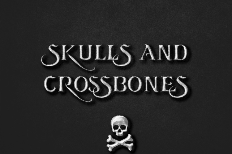 Skulls and Crossbones Font