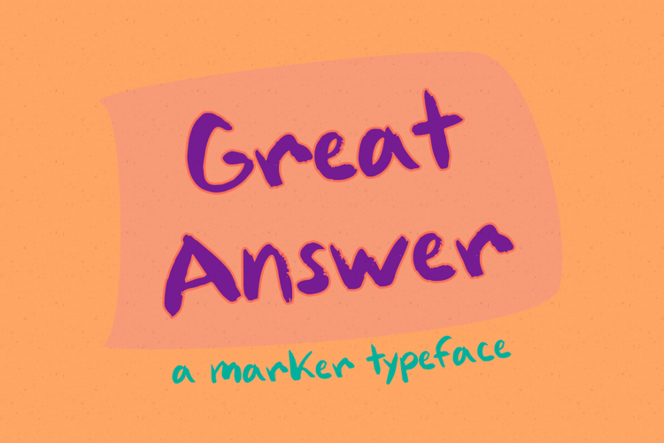 Great Answer Font