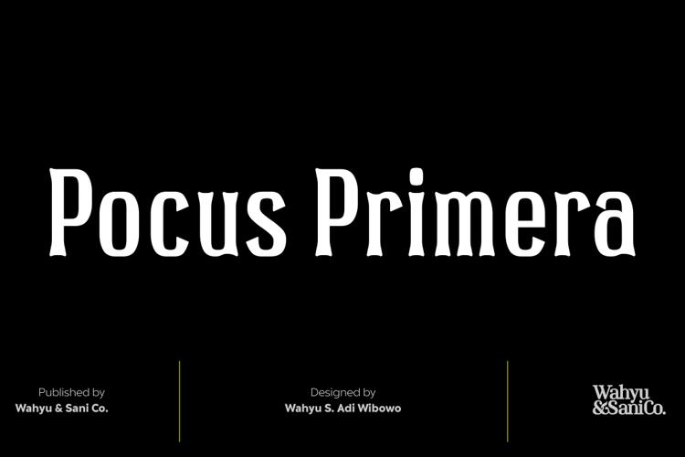 Pocus Primera Font