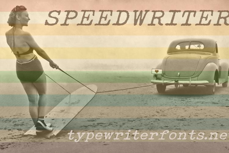 Speedwriter Font