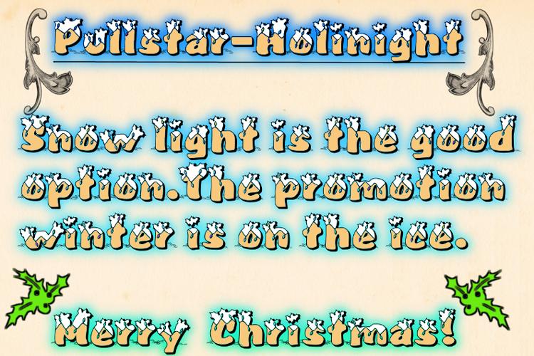 Pullstar-Holinight Font