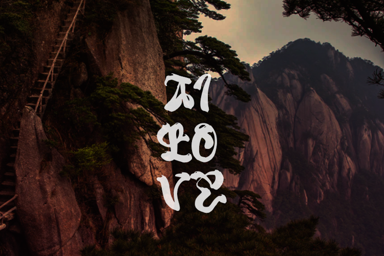 a Ai Love Font