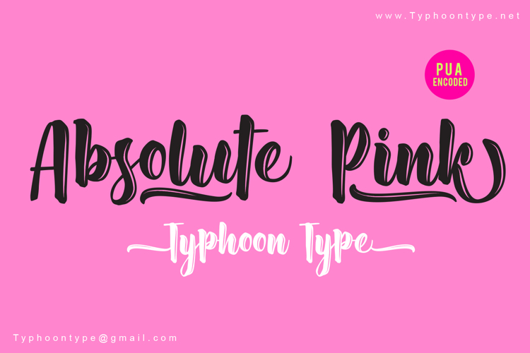 Absolute Pink Font