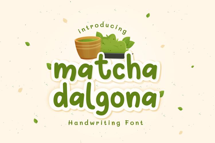 Matcha Dalgona Font