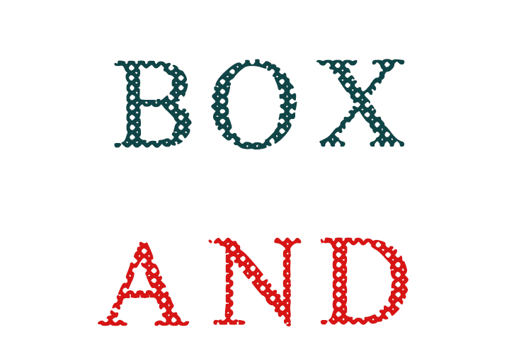 Box And Boxes Font