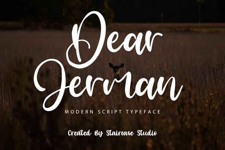 Dear Jerman Font