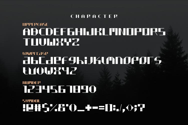 QUILTIX Free Block Font