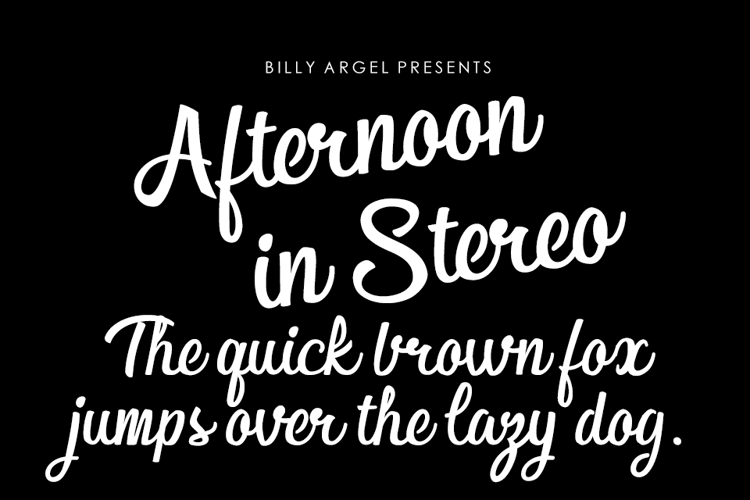 Afternoon in Stereo Font