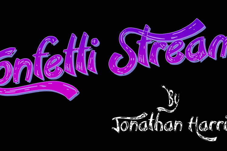 Confetti Stream Font