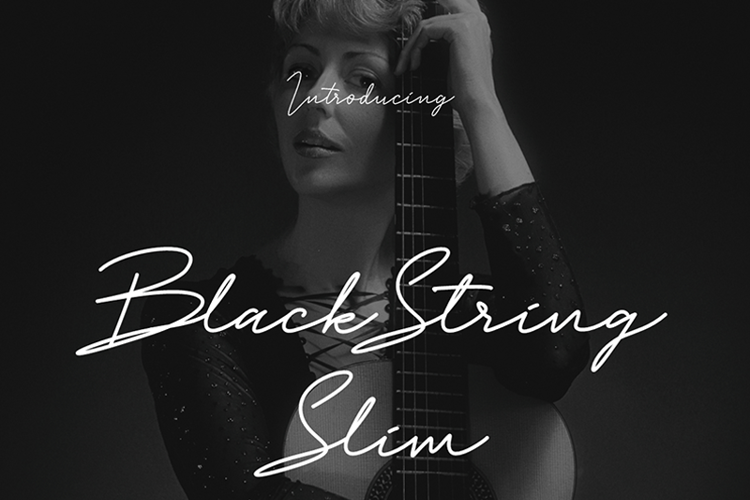 Black String Slim Font