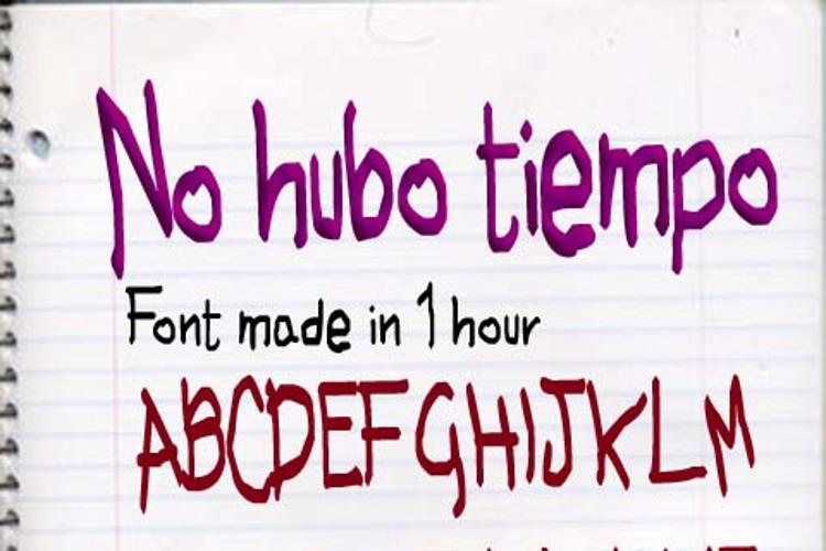 No hubo Tiempo Font