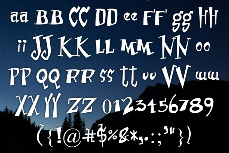 Erusually aniussed Font