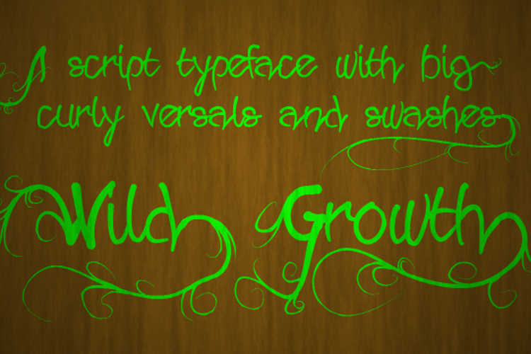 Wild Growth Font