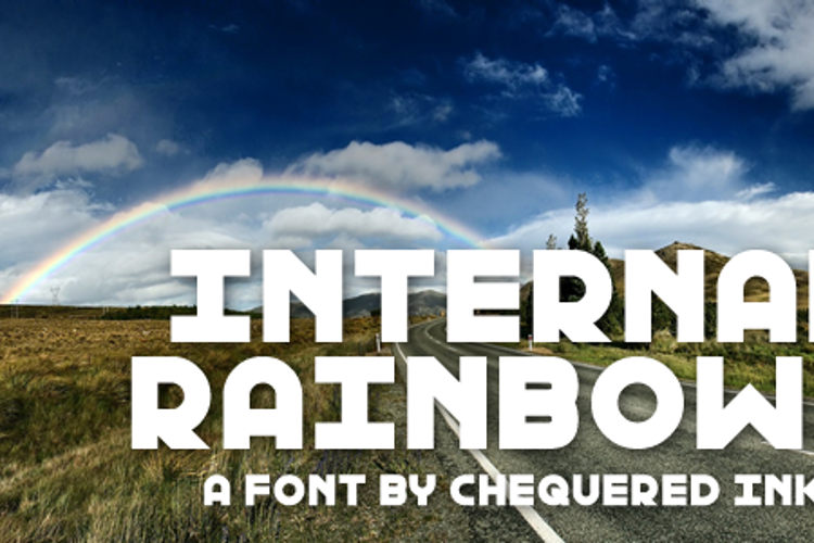 Internal Rainbows Font