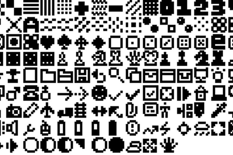 Pixel Dingbats-7 Font