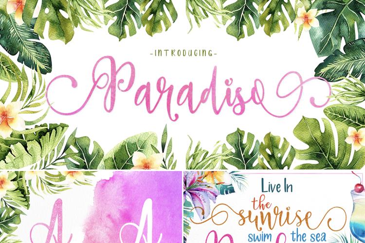 Paradiso Vintage Font
