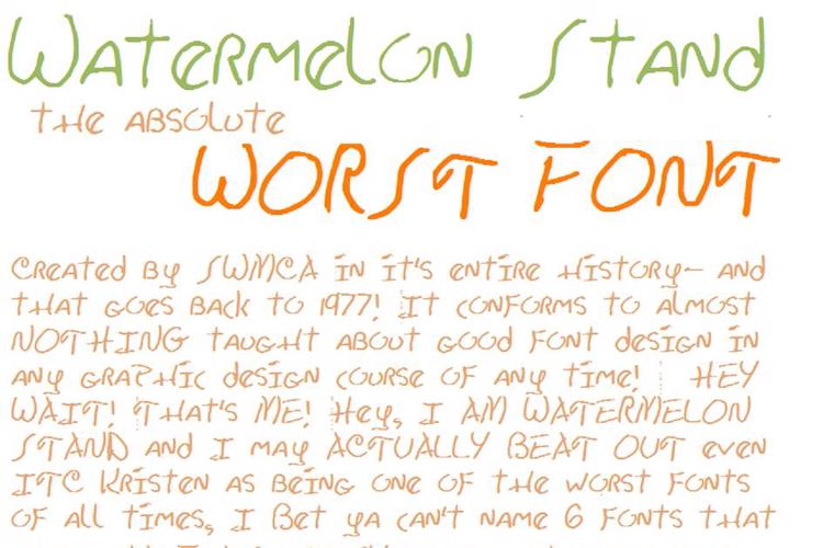 Watermelon Stand I Font