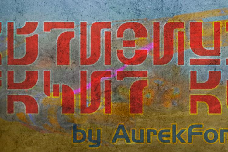 Aurebesh Racer AF Font