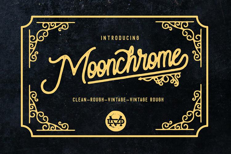 Moonchrome  Rough Font