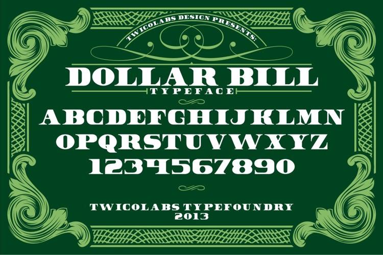 Dollar Bill Font