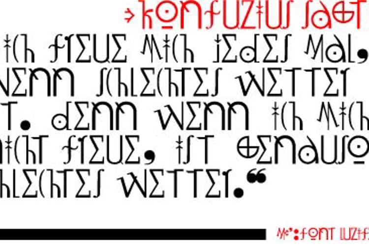 LuziFer Font