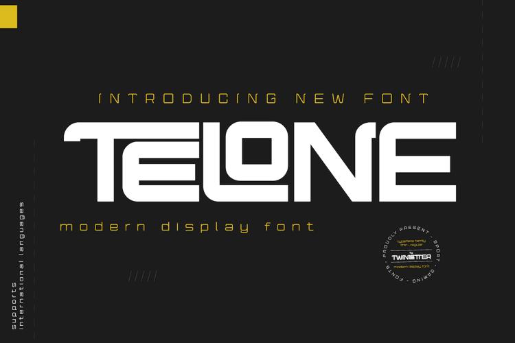 TELONE Regpersonal Font
