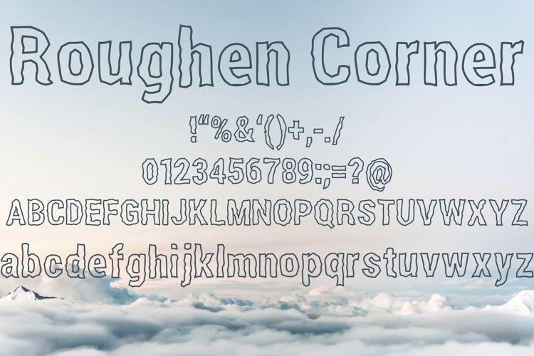 Roughen Corner Font
