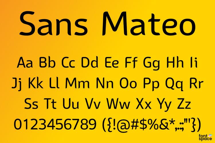 Sans Mateo Font