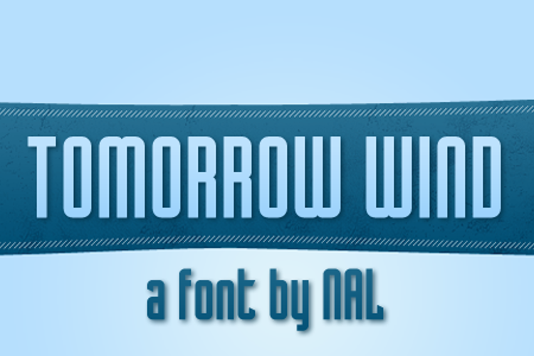 Tomorrow Wind Font