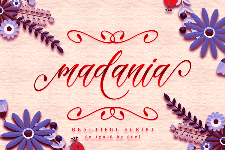 madania script Font