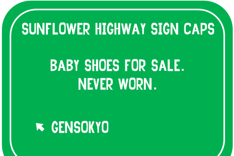 Sunflower Highway Sign Caps Font