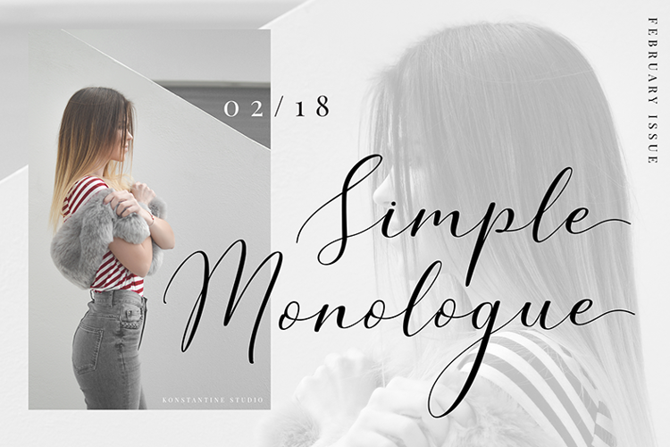 Simple Monologue Font