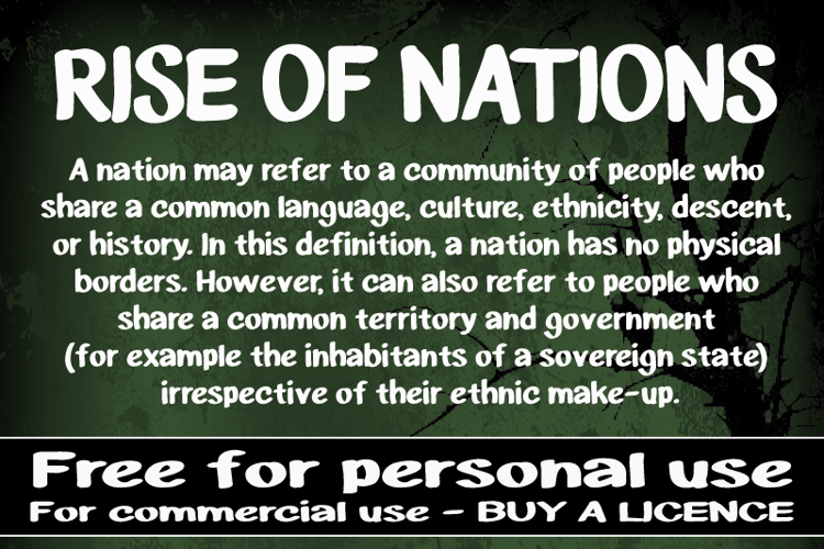 CF Rise of Nations Font