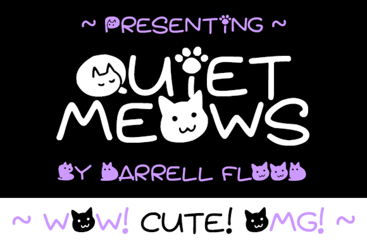 Quiet Meows Font