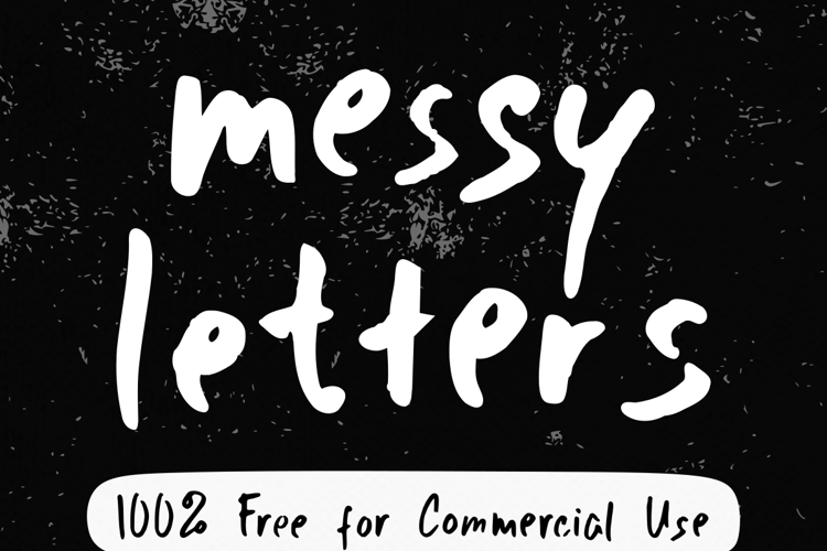 Messy Letters Font