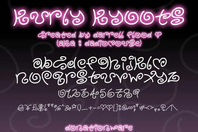 Kurly Kyoots Font