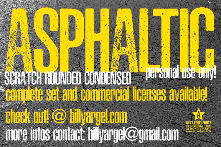 ASPHALTIC SCRATCH ROUNDED Font