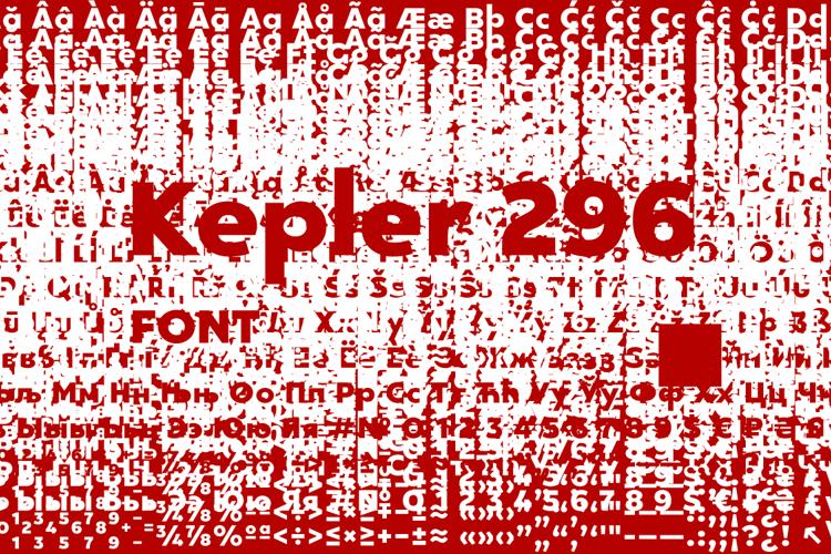 Kepler 296 Font