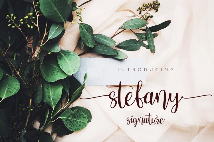 Stefany Signature Font
