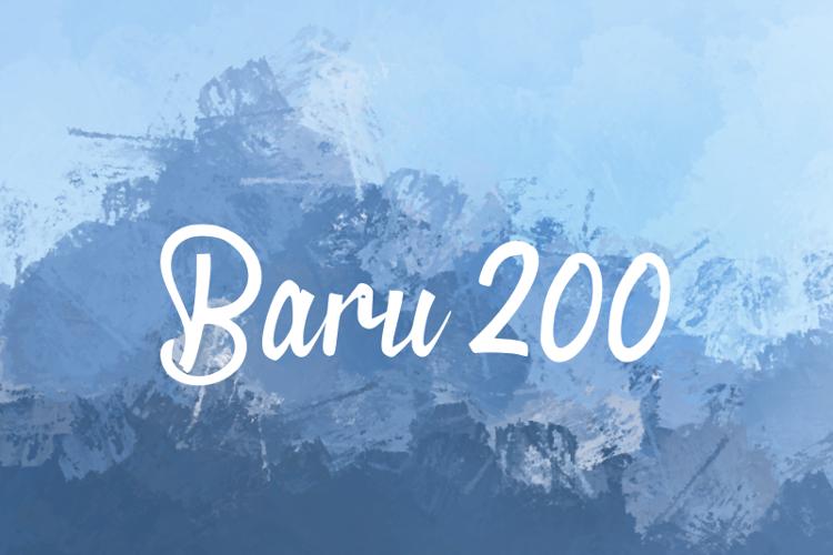 b Baru 200 Font