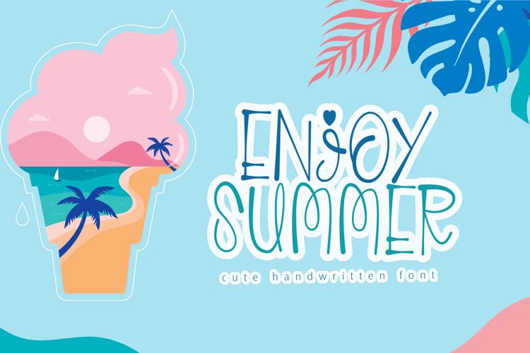 Enjoy Summer Font