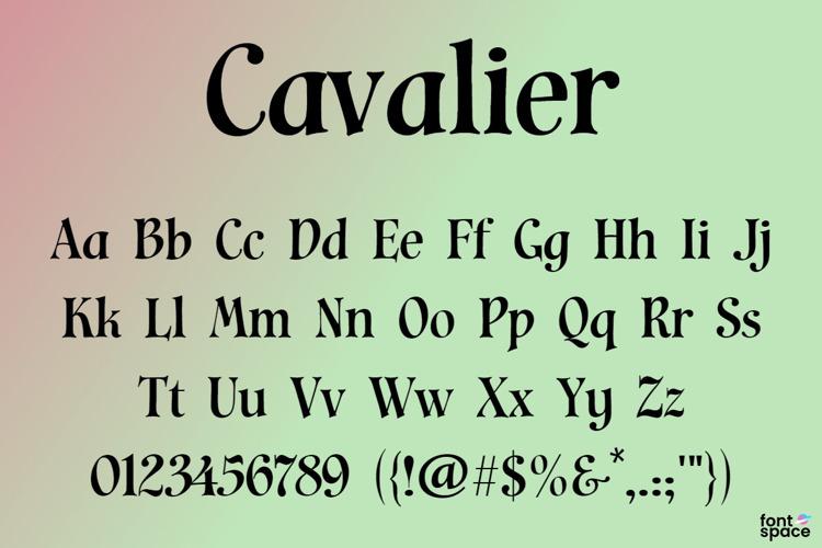 Cavalier Font