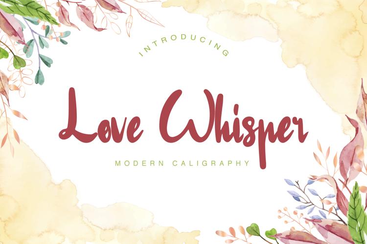 Love Whisper Font
