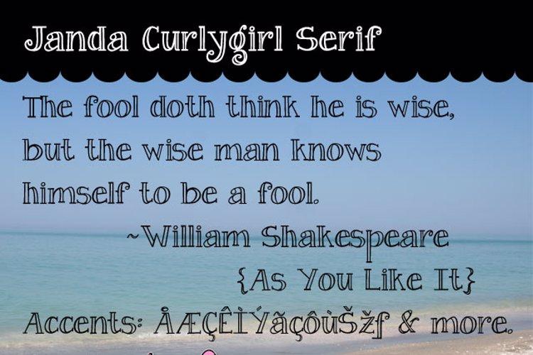 Janda Curlygirl Serif Font