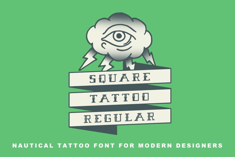 Square Tattoo Demo Font