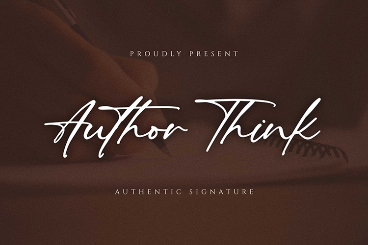 Author Think Font