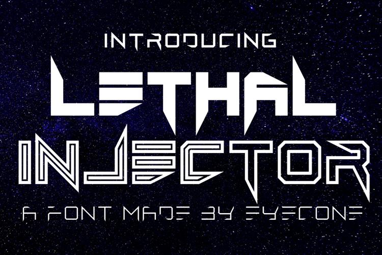 Lethal Injector Bold Font