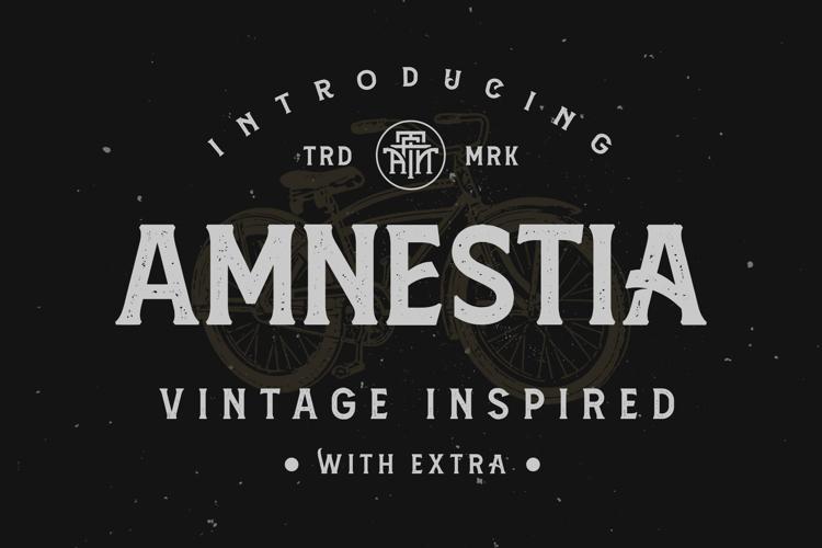 Amnestia Distressed Font