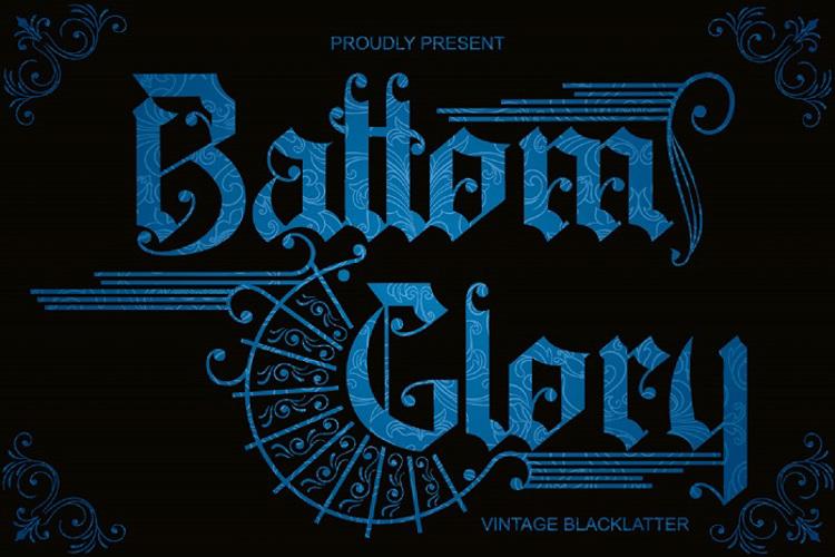 Battom Glory Font