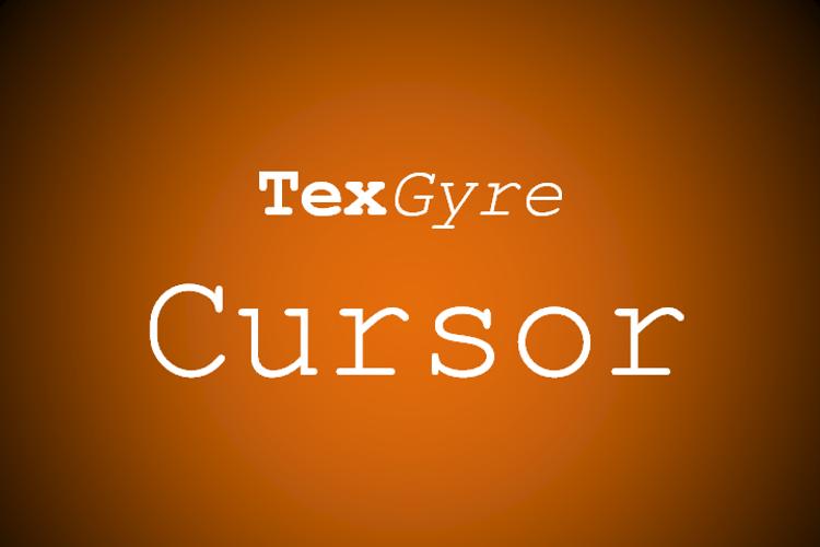 TeXGyreCursor Font